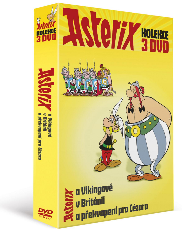 Asterixova kolekce (3DVD): Asterix a Vikingové, Asterix v Británii, Asterix a překvapení pro Cézara