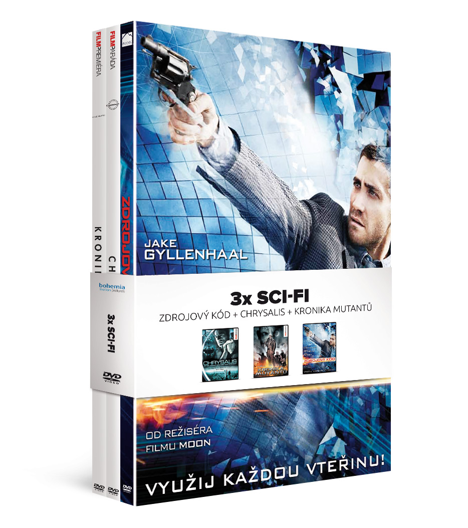 3x Sci-fi: Zdrojový kód + Chrysalis + Kronika mutantů (3DVD)   - DVD