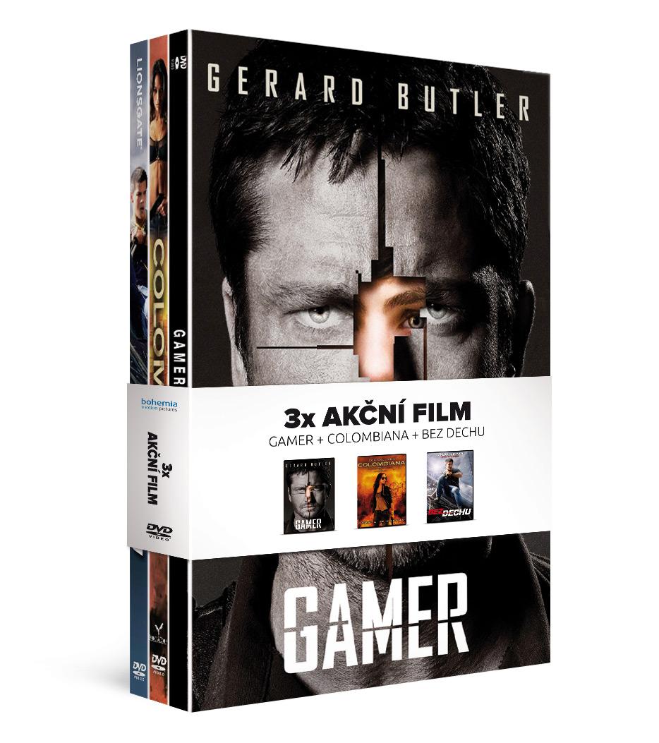 Kolekce 3x Akční film: Gamer + Colombiana + Bez dechu   - DVD