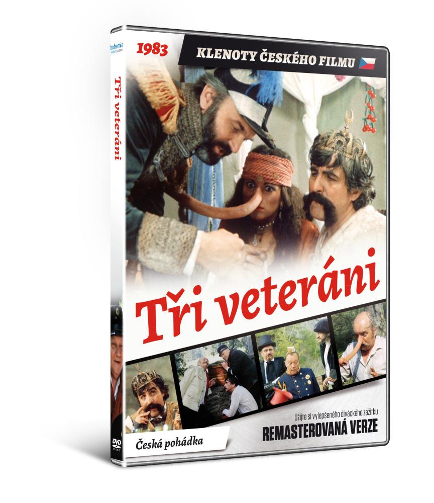 Tři veteráni   - edice KLENOTY ČESKÉHO FILMU (remasterovaná verze) - DVD