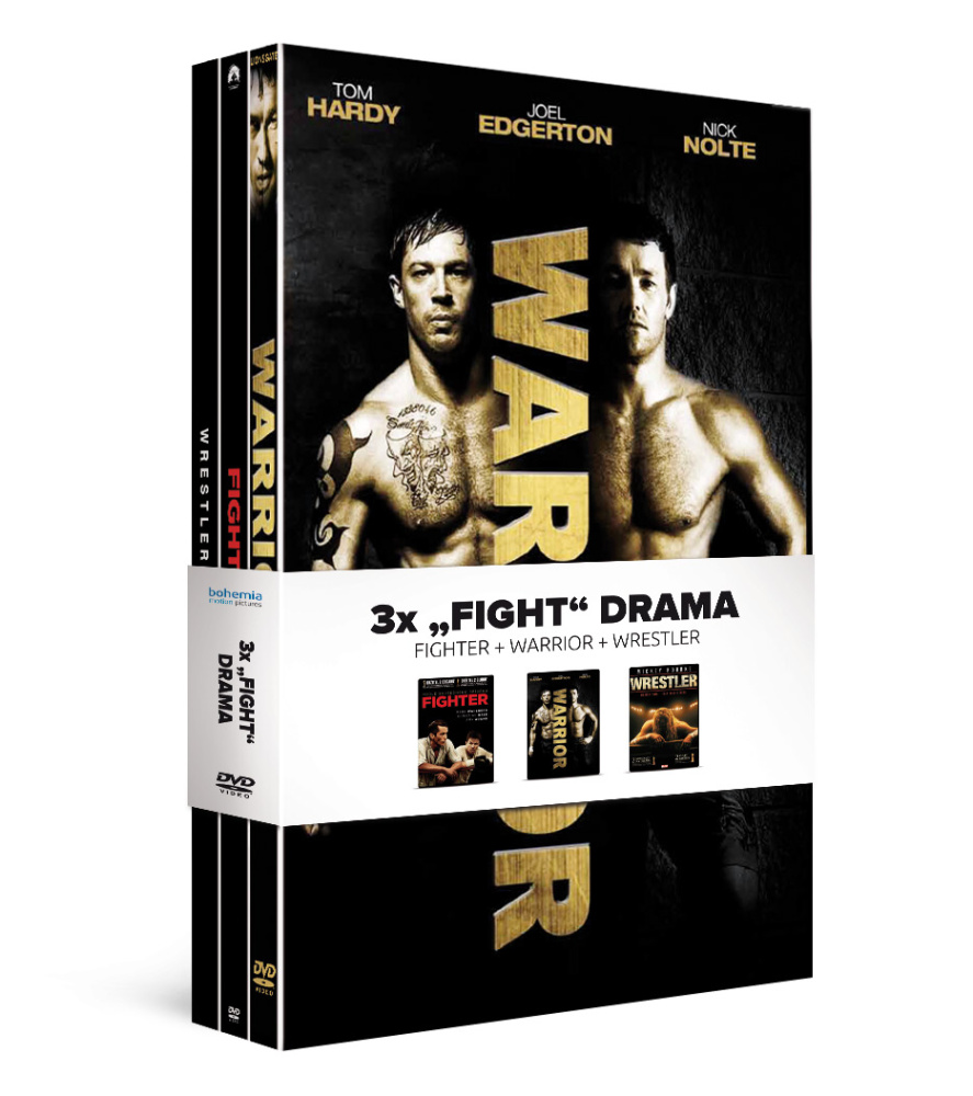 3x Fight drama (3DVD): Fighter + Warrior + Wrestler   - DVD