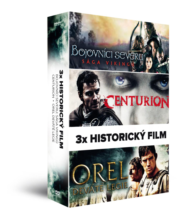 3x Historický film (3DVD):  Bojovníci severu: Sága Vikingů + Centurion + Orel Deváté legie   - DVD