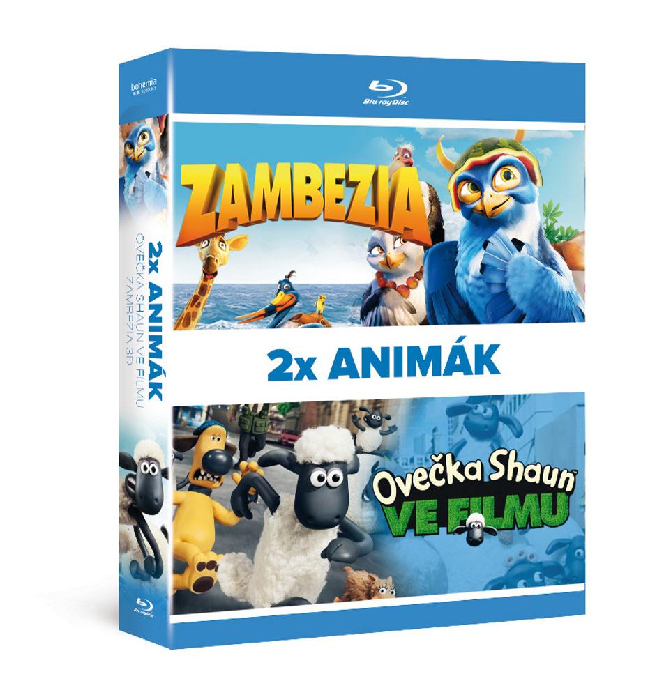 2x Blu-ray Animák (2BD): Ovečka Shaun ve filmu + Zambezia 3D   - Blu-ray