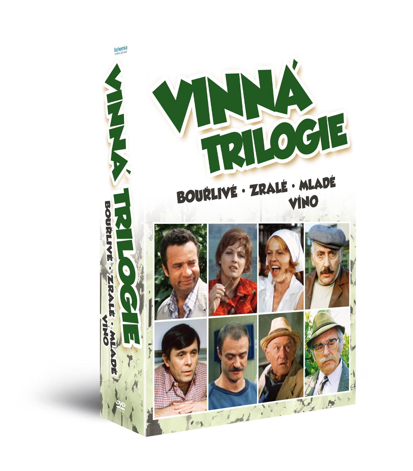 Vinná trilogie: Bouřlivé víno + Zralé víno + Mladé víno (3DVD)   - DVD